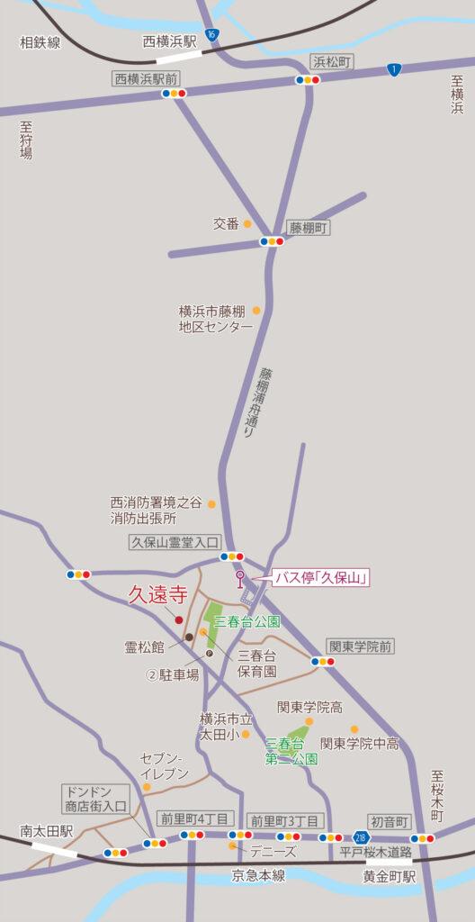 久遠寺地図